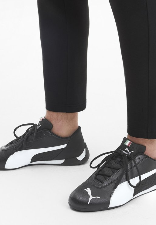 Puma - FERRARI R-CAT - Sneakers basse - black/white