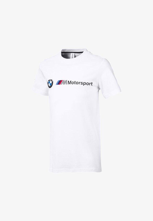 MOTORSPORT LOGO - Print T-shirt - puma white