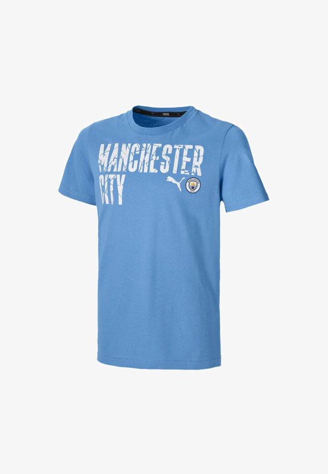 CITY FTBLCORE WORDING YOUTH FOOTBALL  - Print T-shirt - team light blue- white