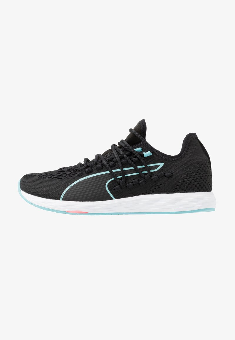 Puma - SPEED RACER - Neutral running shoes - black/milky blue/pink alert