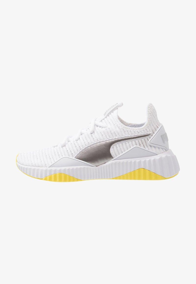 Puma - DEFY TZ - Neutral running shoes - white/blazing yellow