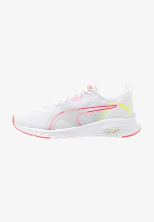 HYBRID FUEGO - Neutral running shoes - white/pink alert/yellow alert