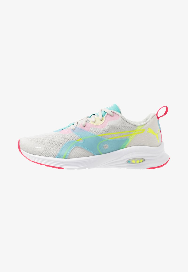 Puma - HYBRID FUEGO - Neutral running shoes - glacier gray/yellow alert/nrgy rose