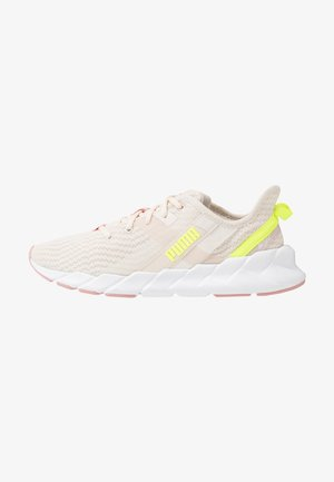 WEAVE XT SHIFT - Sports shoes - pastel parchment/white