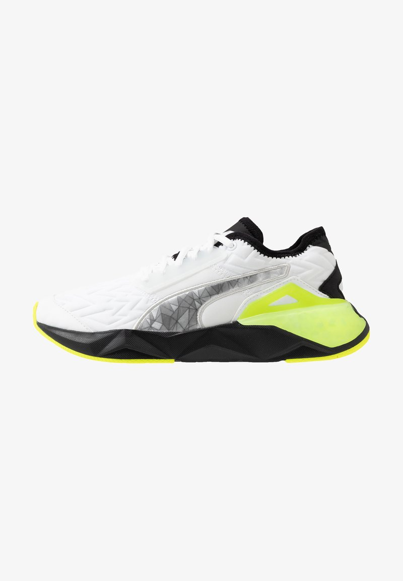 Puma - CELL PLASMIC FLUO - Sports shoes - white/black/yellow alert