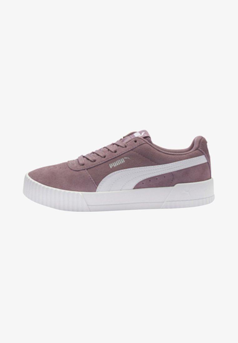 Puma - CARINA - Sneakers laag - elderberry/white/silver