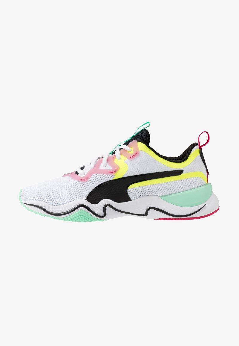 Puma - ZONE XT - Sports shoes - white/black/yellow alert