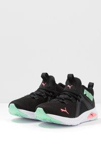 Puma - ENZO 2 - Zapatillas de running neutras - black/green glimmer/ignite pink - 2