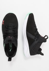 Puma - ENZO 2 - Zapatillas de running neutras - black/green glimmer/ignite pink - 1