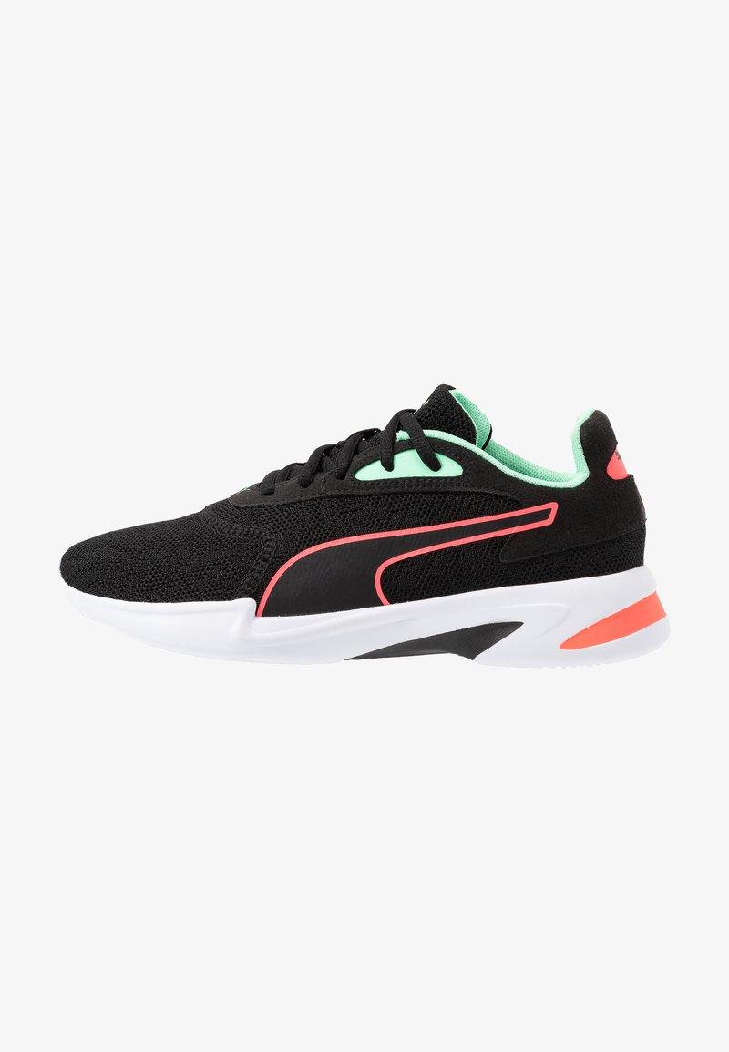 Puma - JARO  - Neutral running shoes - black/green glimmer/ignite pink