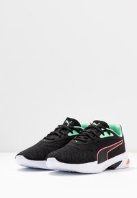 Puma - JARO  - Neutral running shoes - black/green glimmer/ignite pink - 2