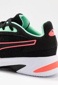 Puma - JARO  - Neutral running shoes - black/green glimmer/ignite pink - 5