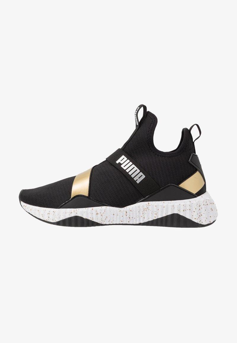 Puma - DEFY MID METAL - Sports shoes - black/white