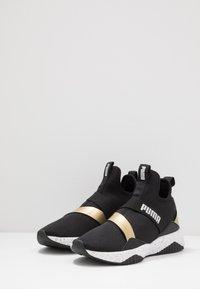 Puma - DEFY MID METAL - Sports shoes - black/white - 2