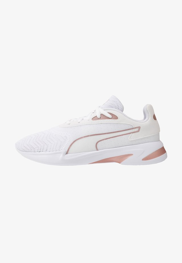 JAROMETAL - Neutral running shoes - white/rose gold