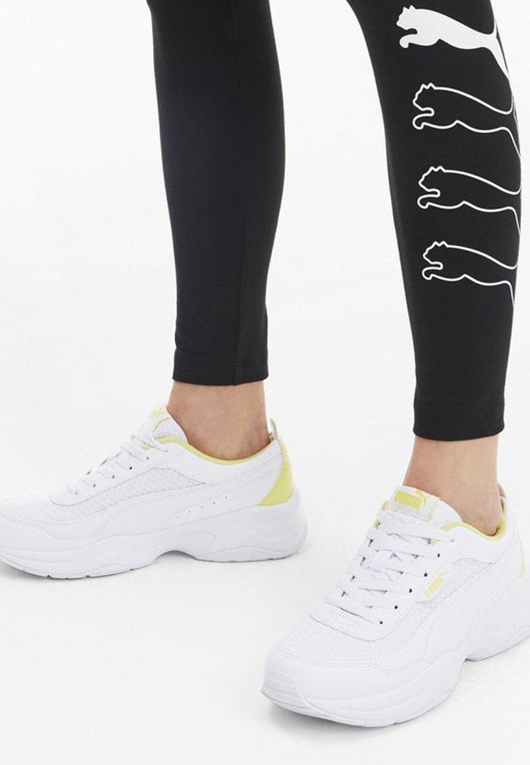 Puma - PUMA CILIA MODE MESH WOMEN'S TRAINERS FEMALE - Chaussures d'entraînement et de fitness - puma white-sunny lime
