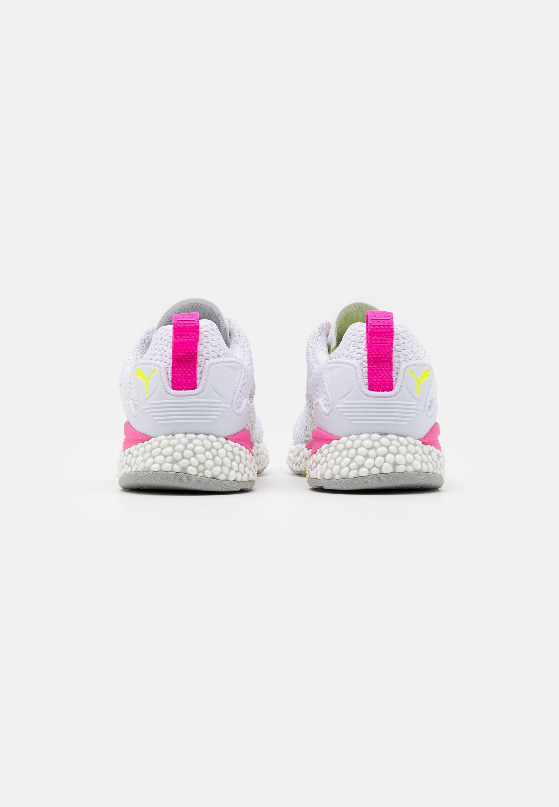 HYBRID RUNNER V2 Chaussures de running neutres whiteyellow alerthigh riseluminous pink