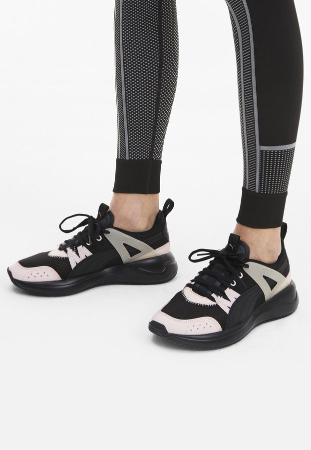 NUAGE RUN CAGE SUMMER - Sports shoes - puma black-rosewater-rose go