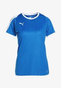 Puma - LIGA - T-shirt med print - electric blue lemonade/white - 5