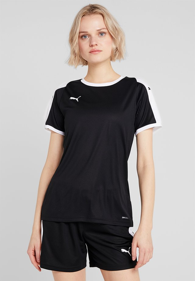 LIGA - T-shirt z nadrukiem - black/white