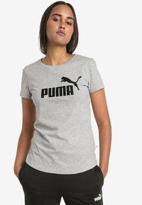 Puma - T-shirts med print - light gray - 0