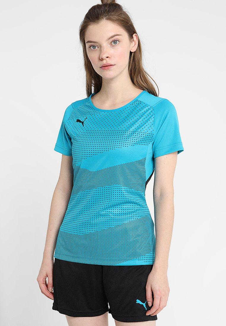 Puma - Camiseta estampada - caribbean sea/puma black