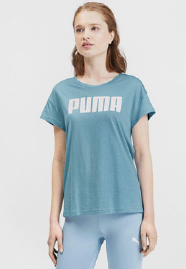 Puma - ACTIVE LOGO TEE - T-Shirt print - milky blue