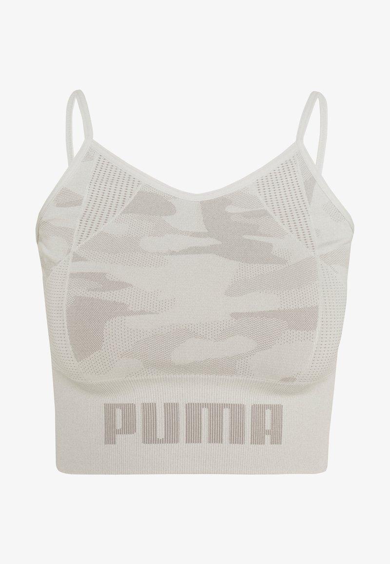 Puma - EVOKNIT SEAMLESS CROP - Treningsskjorter - lunar rock