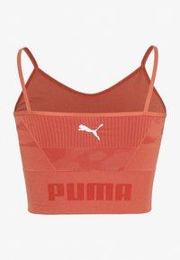 Puma - EVOKNIT SEAMLESS CROP - Tekninen urheilupaita - autumn glaze - 1