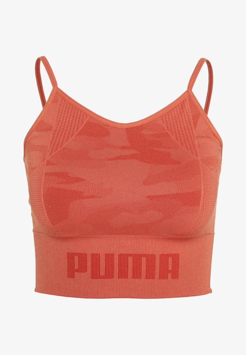 Puma - EVOKNIT SEAMLESS CROP - Tekninen urheilupaita - autumn glaze