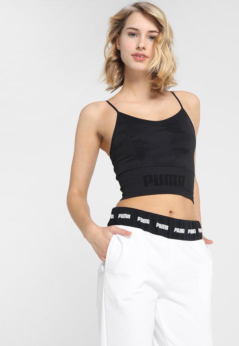 Puma - EVOKNIT SEAMLESS CROP - Camiseta de deporte - black