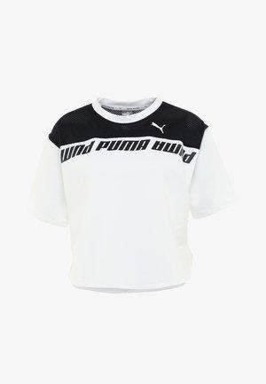 MODERN SPORTS TEE - Print T-shirt - white/black