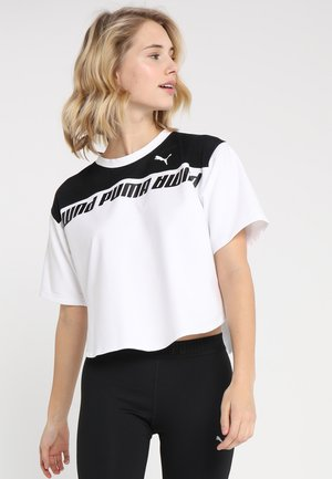 MODERN SPORTS TEE - Print T-shirt - white/black