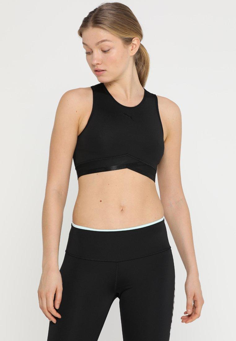 Puma - SOFT CROP - Sports shirt - black