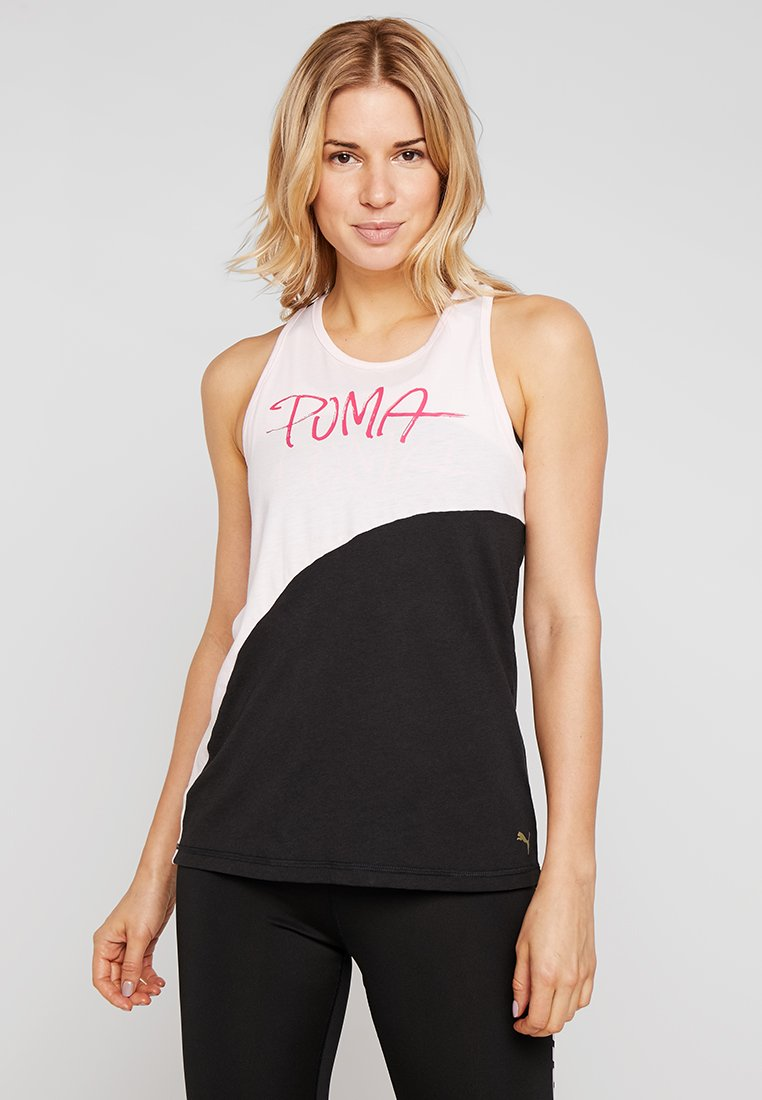 Puma - SWEET TANK - Sports shirt - barely pink/black