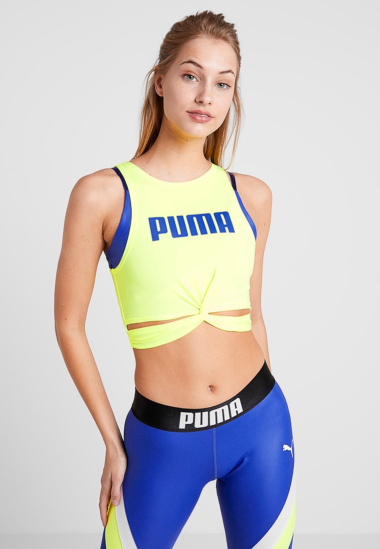 Puma - TWISTED - T-shirt de sport - safety yellow