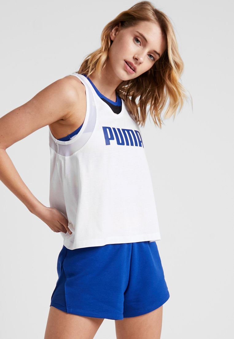 Puma - LOOSE TANK - Sports shirt - white