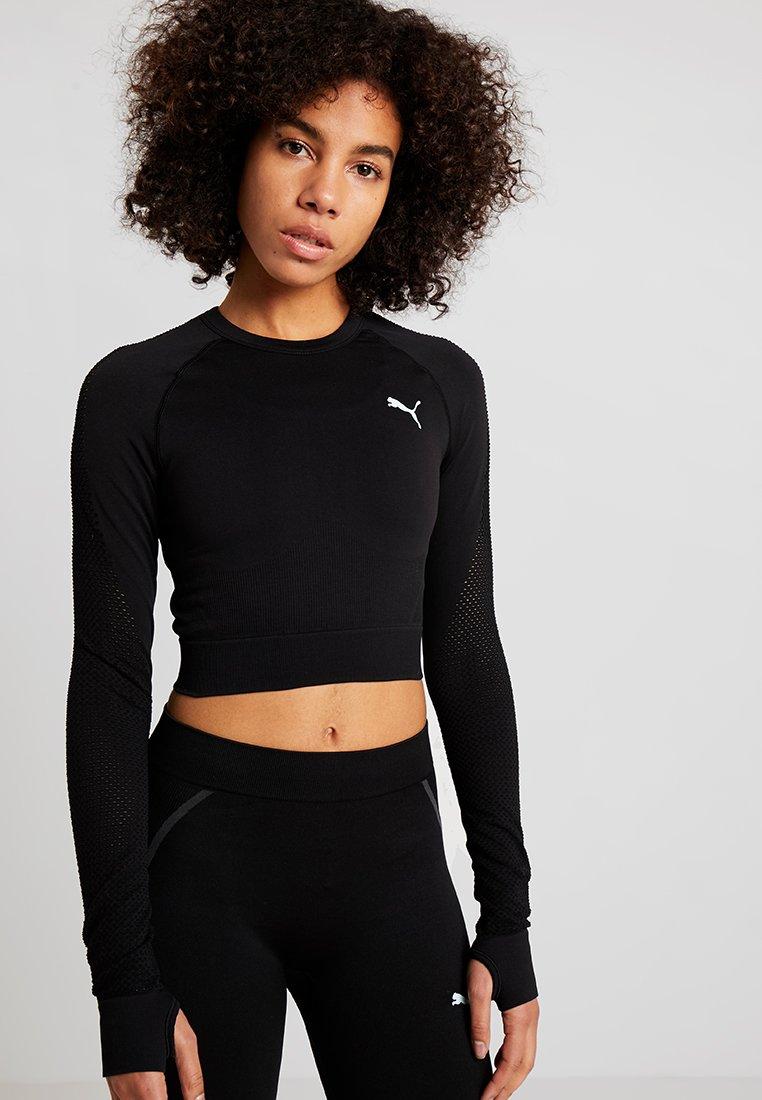 Puma - SEAMLESS - T-shirt sportiva - black