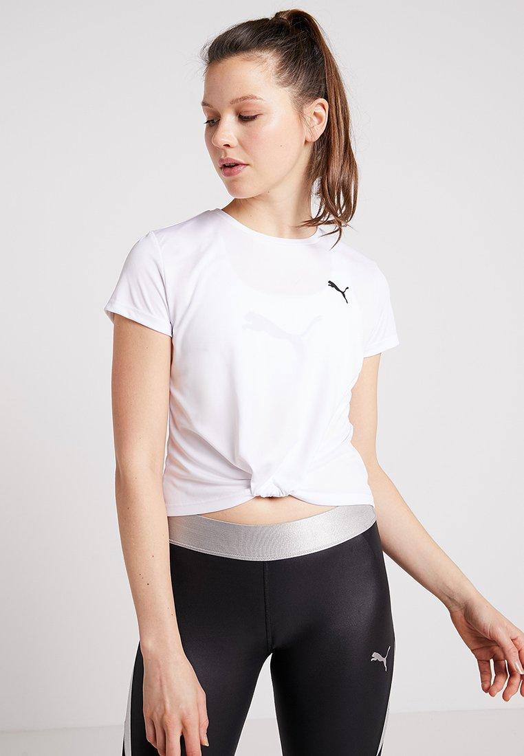Puma - TWISTED TEE - Jednoduché triko - white