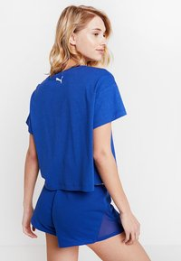 Puma - CROPPED LOGO TEE - Print T-shirt - sodalite blue - 2