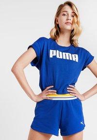 Puma - CROPPED LOGO TEE - Print T-shirt - sodalite blue - 0