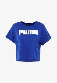 Puma - CROPPED LOGO TEE - Print T-shirt - sodalite blue - 5