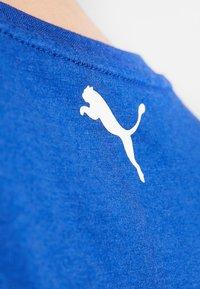 Puma - CROPPED LOGO TEE - Print T-shirt - sodalite blue - 6