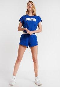 Puma - CROPPED LOGO TEE - Print T-shirt - sodalite blue - 1