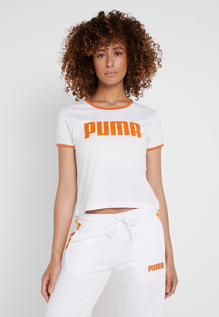 Puma - PERFORMANCE RETRO TEE - Print T-shirt - white