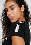 Puma - AMPLIFIED LOGO FITTED TEE - T-Shirt print - puma black