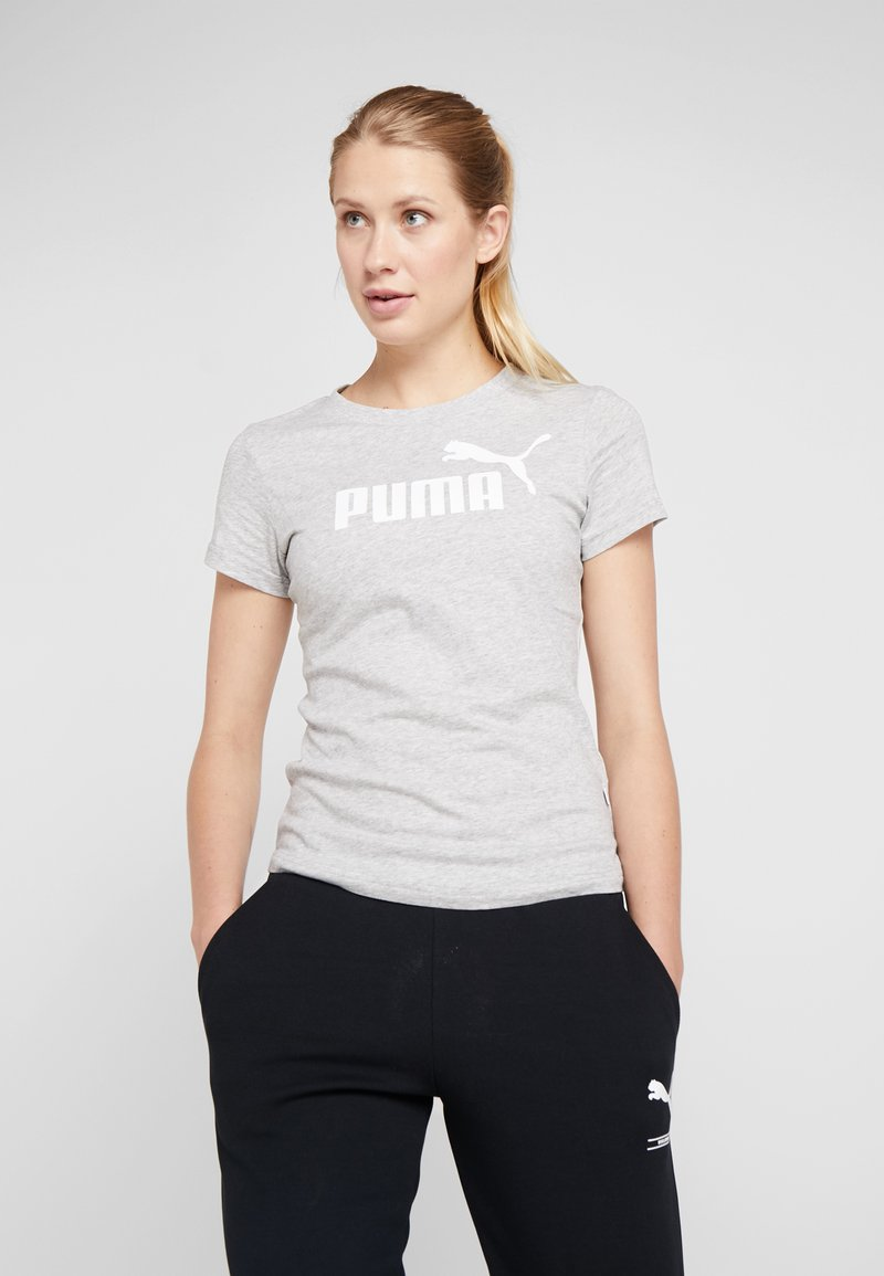 Puma - AMPLIFIED TEE - Camiseta estampada - light gray heather