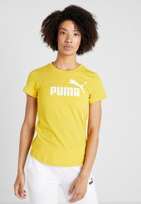 Puma - AMPLIFIED TEE - Print T-shirt - sulphur - 0