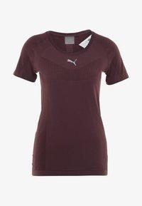 Puma - CORE SEAMLESS TEE - Camiseta estampada - vineyard wine - 5