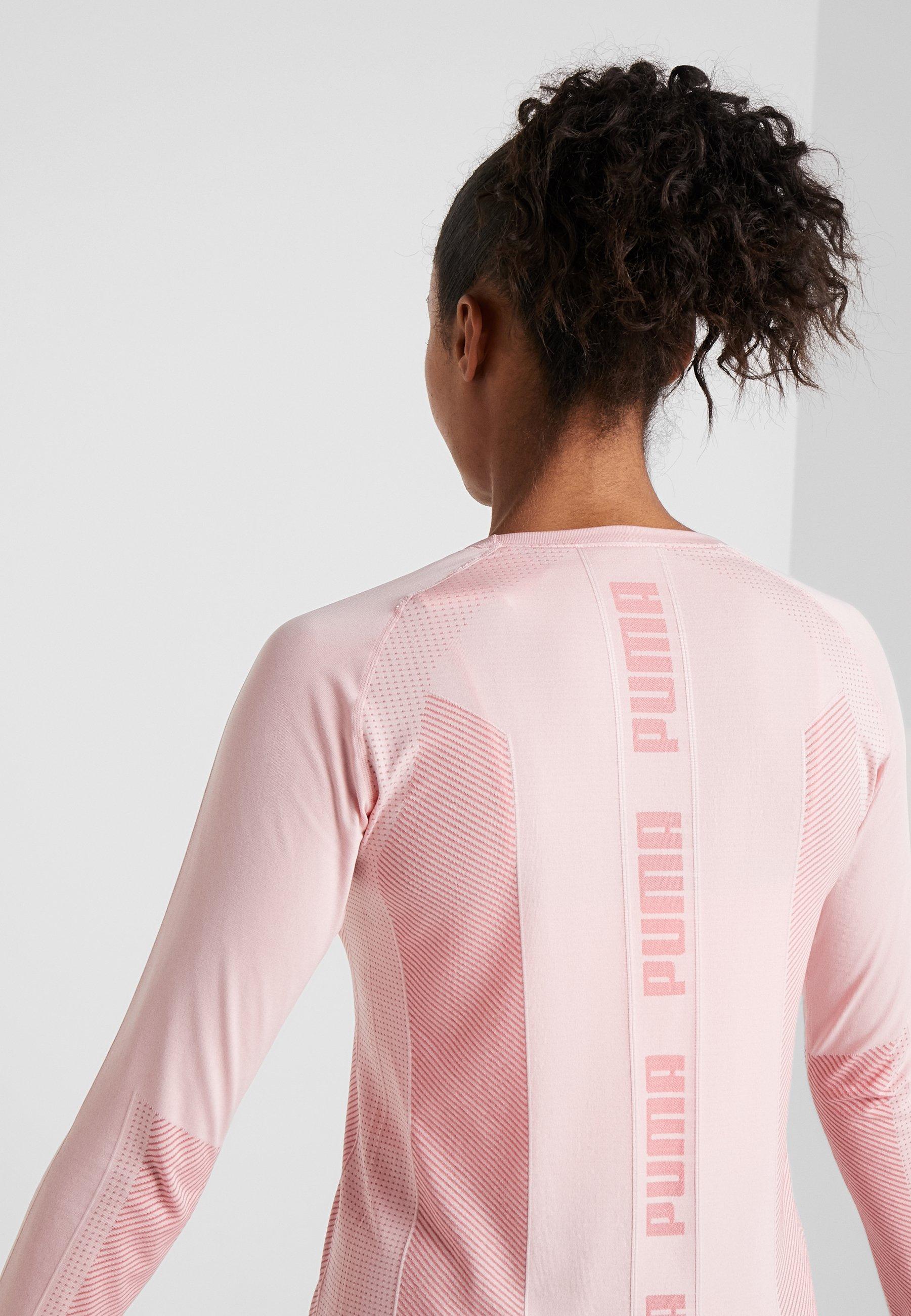 Manches Evoknit TopT shirt Puma À Rose Seamless Longues Bridal kwXiOPuTZ